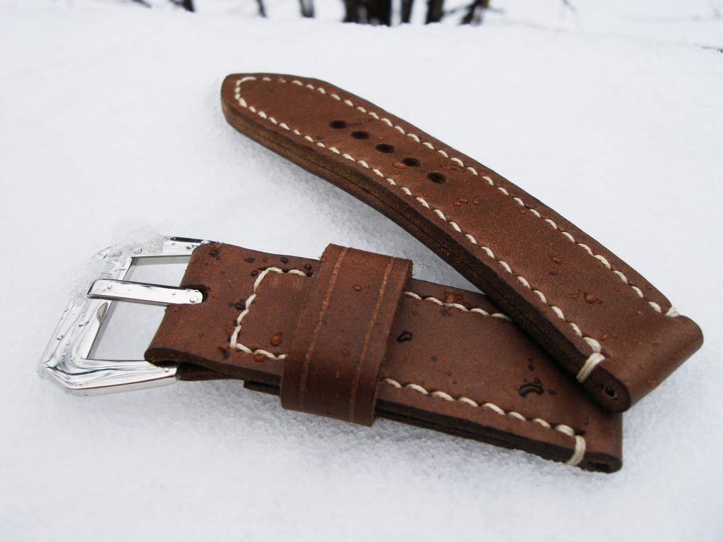 Coco Brown Nubuck 'Weekender' Series leather strap for PAM