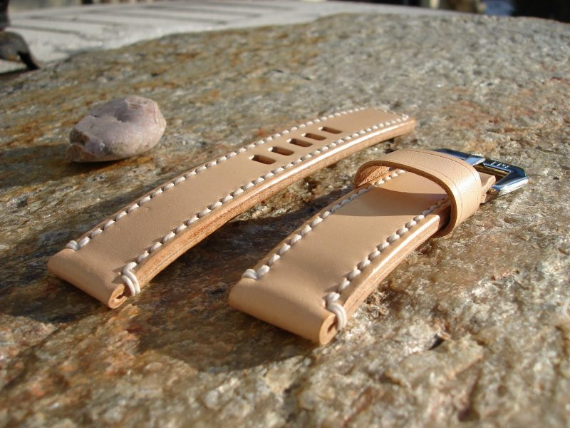 Natural Leather strap for U-Boat Classico