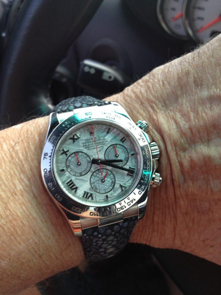 Stingray strap for Rolex Meteorite Daytona
