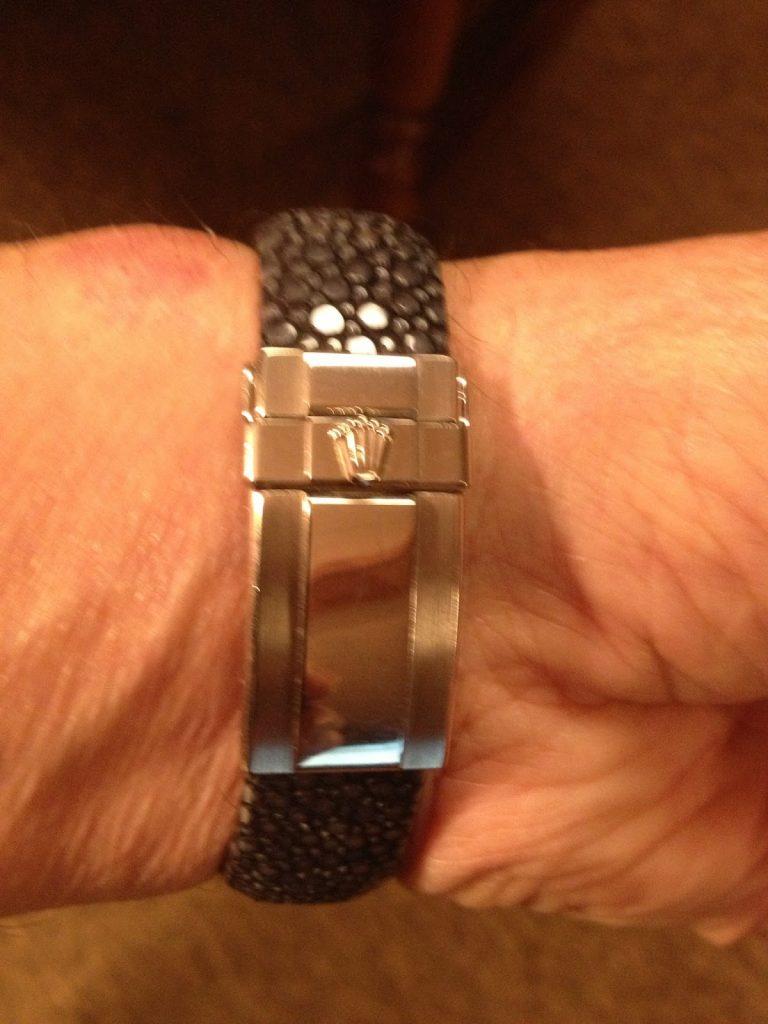 Stingray strap for Rolex Meteorite Daytona  - the clasp fit