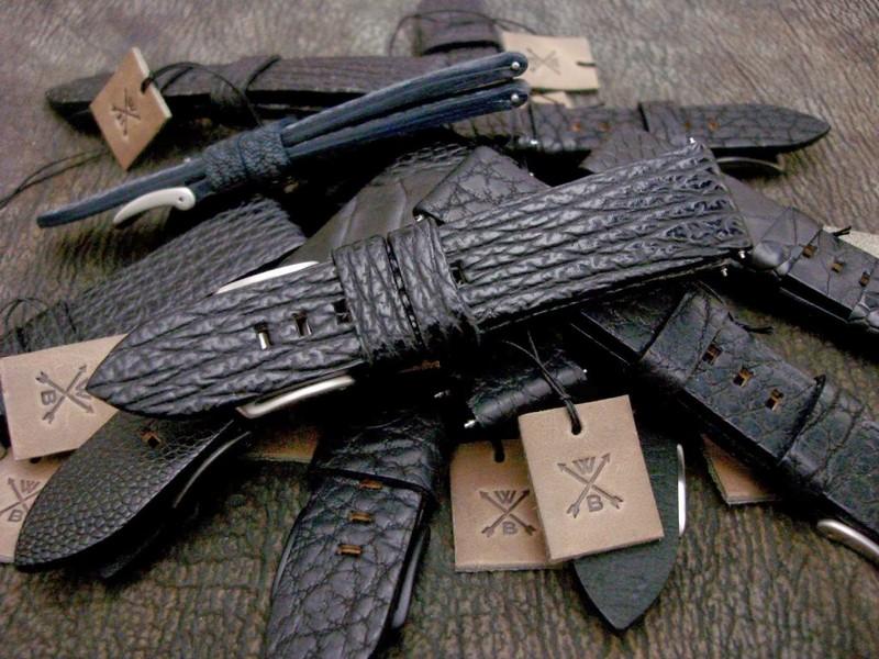 Black Shark skin for WERENBACH Watches - Zurich