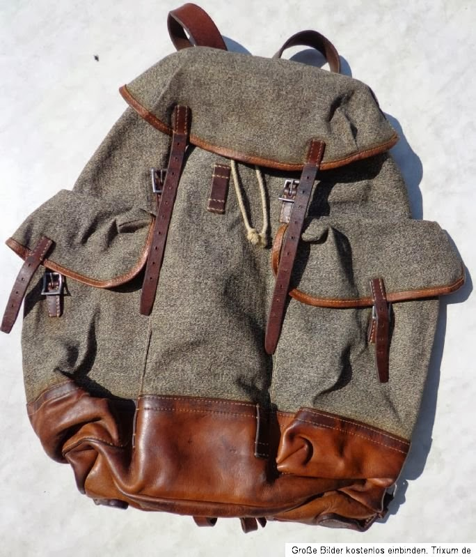 1950s Swiss Army Rucksack - the leather and Canvas Salvaged for your Custom Watch strap