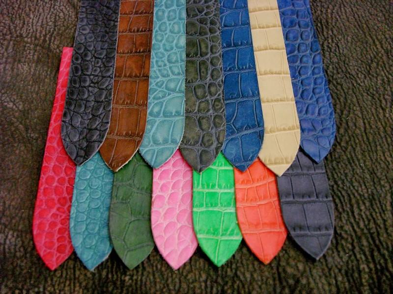 Alligator Printed Calf Leather a High Quality Alternative!!
