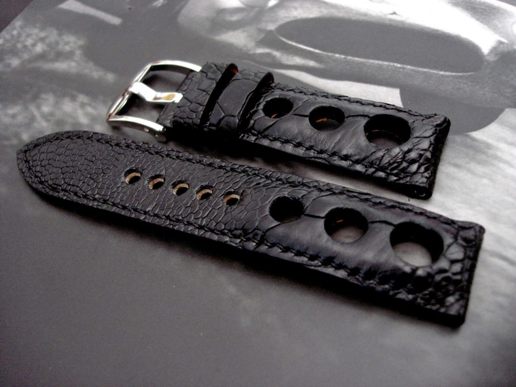 Satin-Black-Ostrich-Leg-Rally-strap-for-Blancpain-Fifty-Fathoms-2