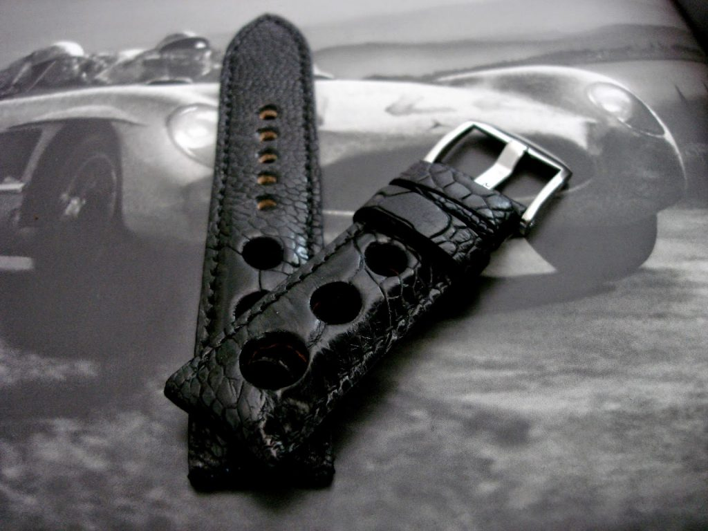 Satin-Black-Ostrich-Leg-Rally-strap-for-Blancpain-Fifty-Fathoms-4