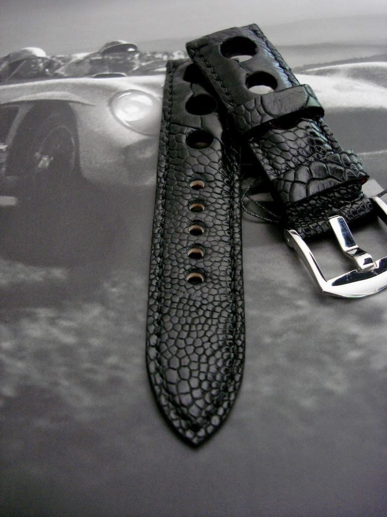 Satin-Black-Ostrich-Leg-Rally-strap-for-Blancpain-Fifty-Fathoms-10