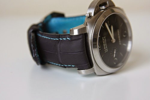 SuperMatte Blue Alligator for Panerai312