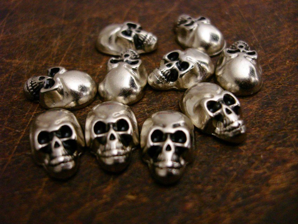 Antique Silver Metal Skulls for Custom Watch Straps