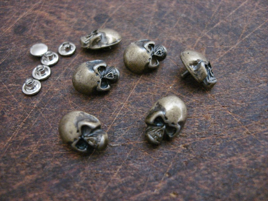 Antique Bronze Finish Rivets for Custom Watch Straps