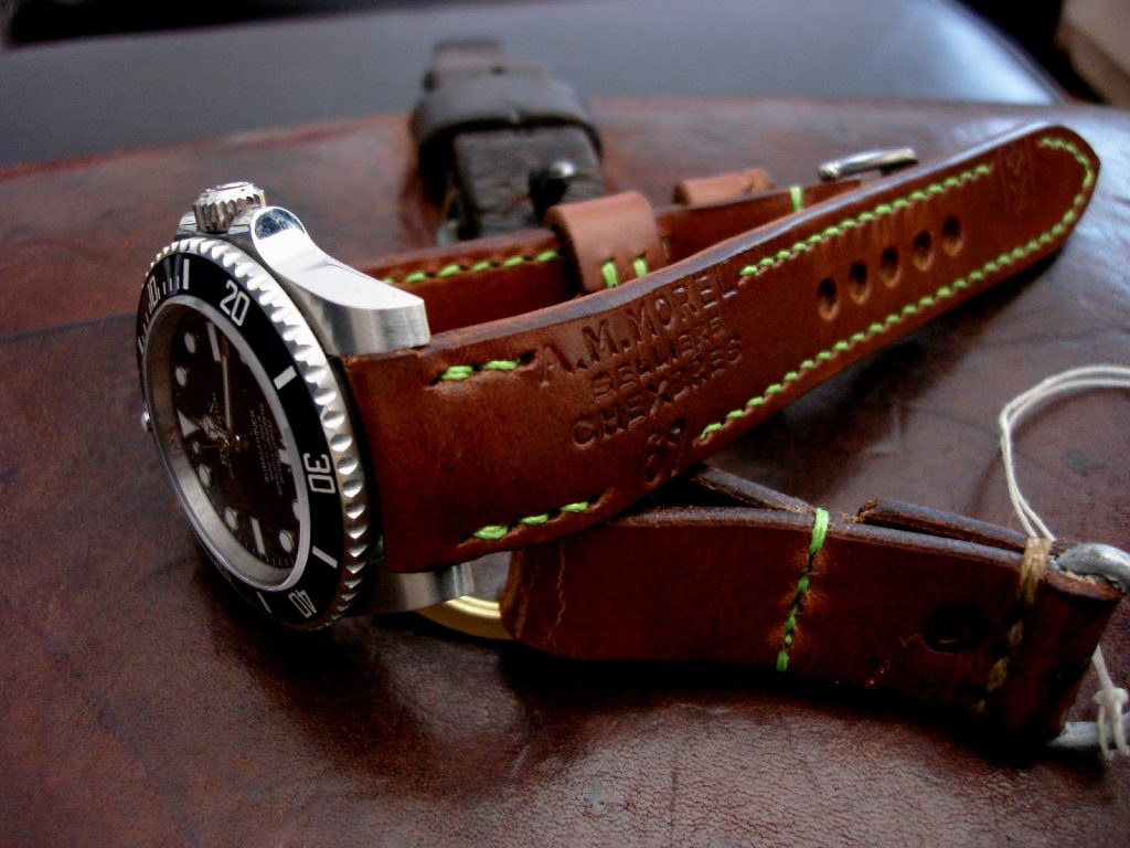 1967 Swiss Ammo strap for Rolex with Custom 'Thick Curved Lug System' (TCLS) Integrated fit