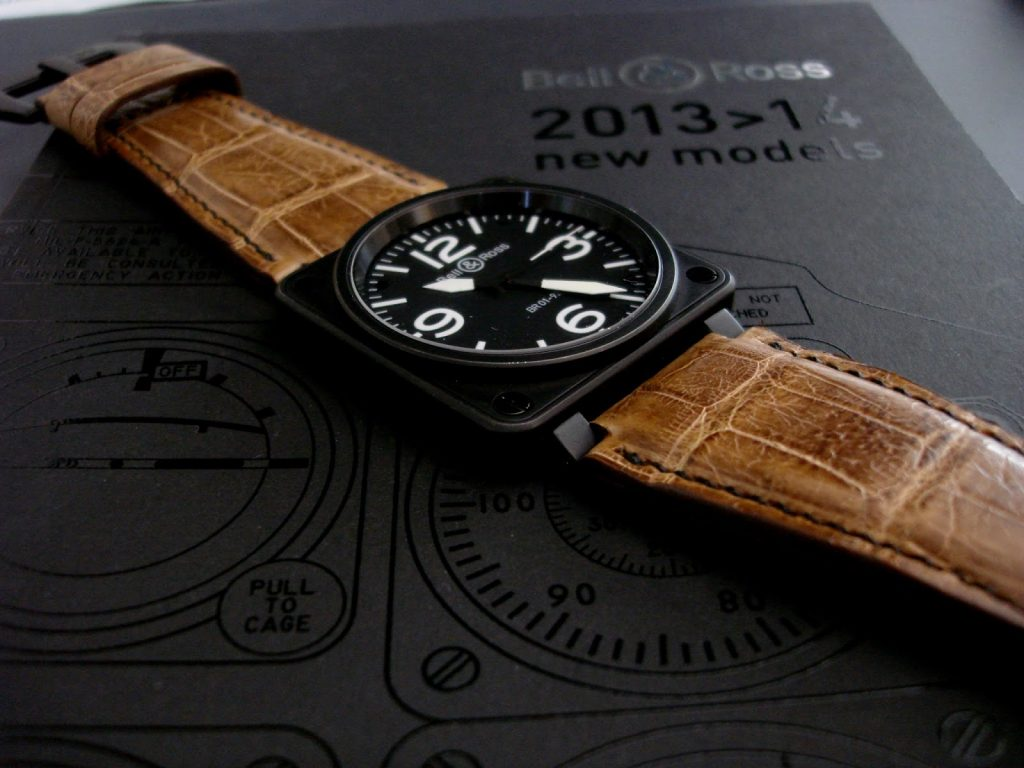 BR01 on Newly completed Verona Gold Alligator strap from our Veneto Alligator Collection
