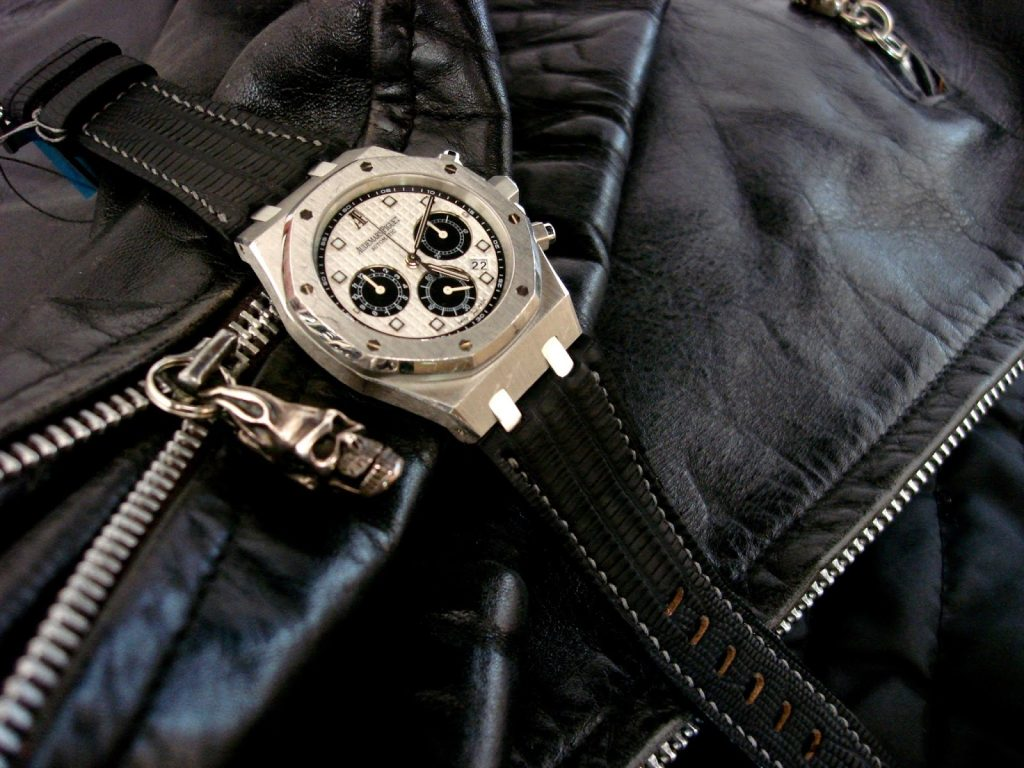 Custom SuperMatte Teju strap for Audemars Piguet Royal Oak Platinum