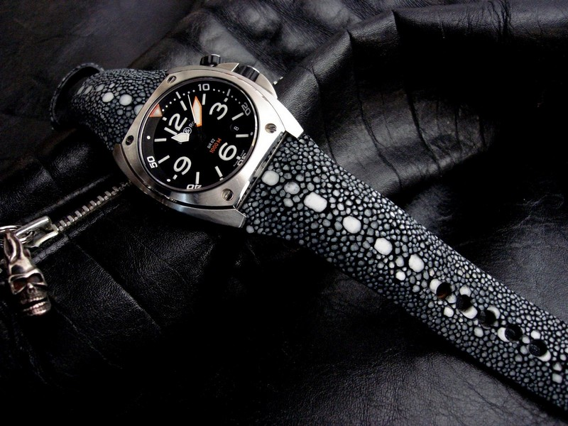 Row Stone Stingray for Bell & Ross BR02