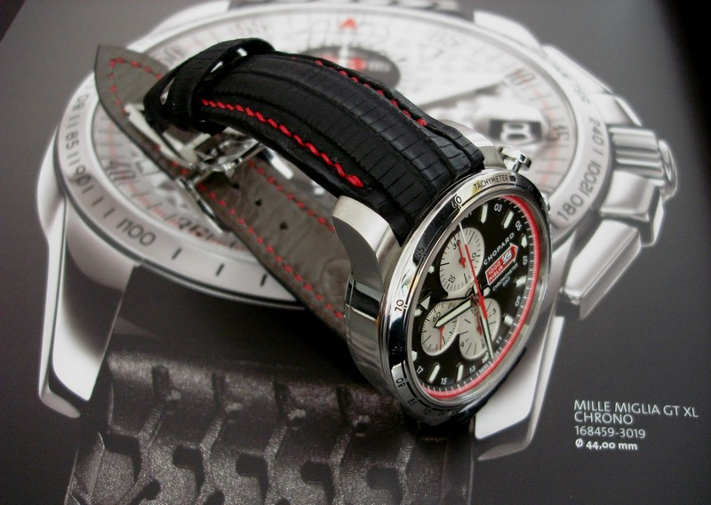 Ajay's Chapard Mille Miglia GMT in SuperMatte Teju Lizard with Integrated Fit