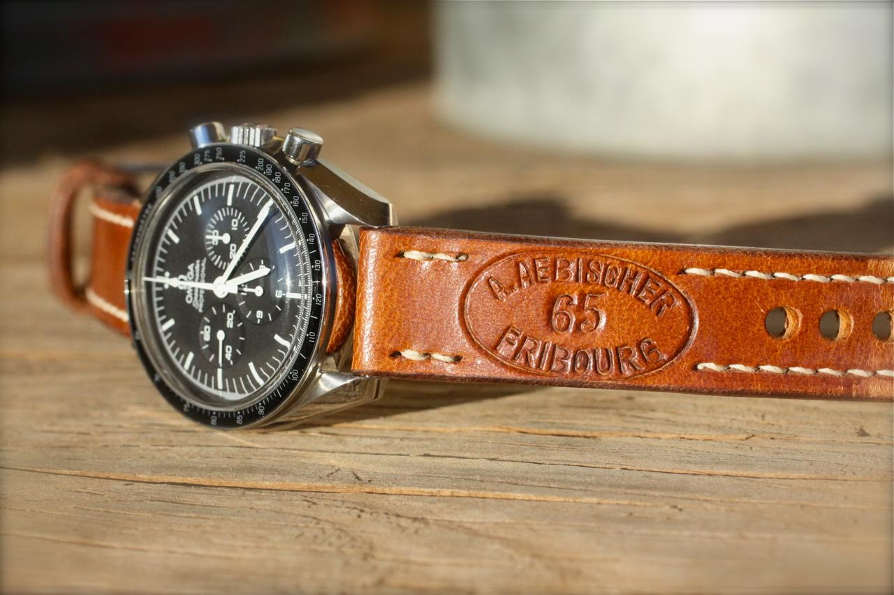 Omega Speedmaster on 1965 Swiss Ammo Strap - a Classic combination