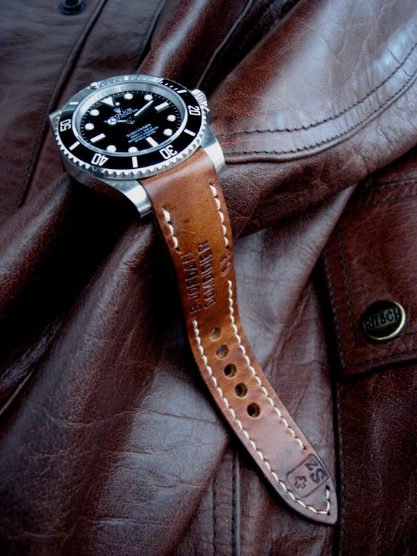 1965 Swiss Ammo strap for Rolex Submariner with our exclusive 'Thick Curved Lug System' (TCLS)
