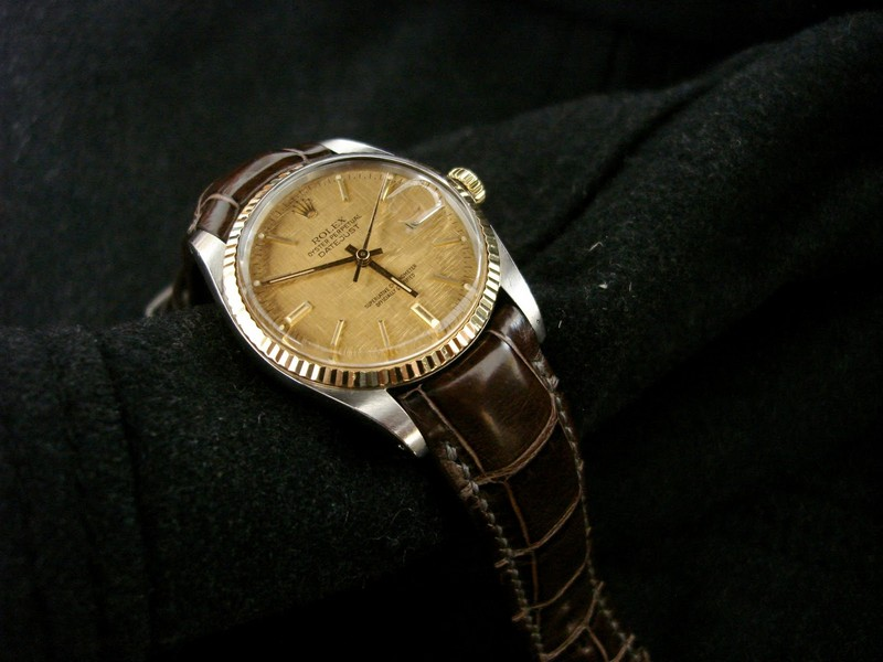 Eugen's Vintage Rolex Datejust on Troube Brune Alligator with our Integrated fit