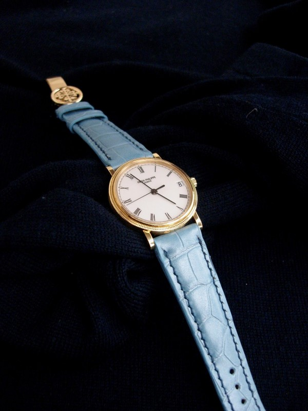 Stunning Vintage Patek Philippe Calatrava on Pearl Blue Alligator