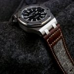 Audemars Piguet Diver on Vintage Swiss Army Rucksack Canvas and leather strap