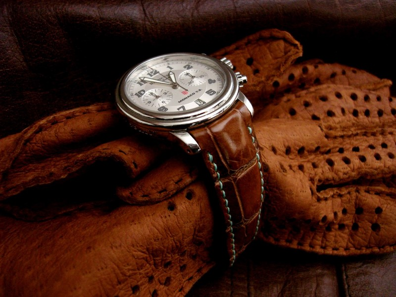 Vintage Cognac Alligator for Blancpain Flyback Chronograph