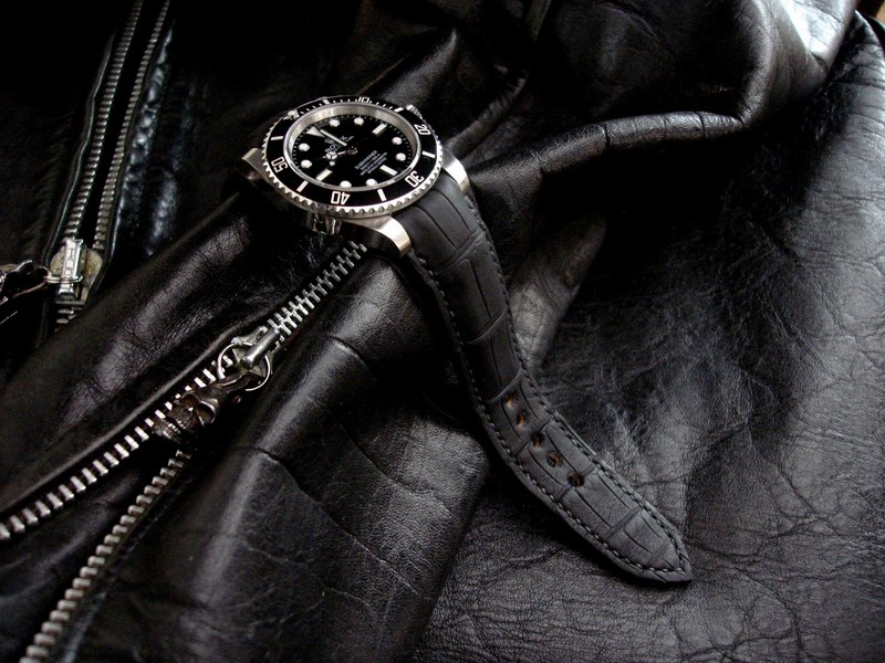 SuperMatte Alligator with Fully Integrated Fit for Rolex Submariner is an instant classic