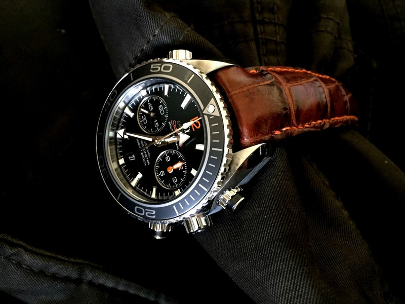 Caramel Brulée Alligator for Omega Planet Ocean Co-Axle Chronograph