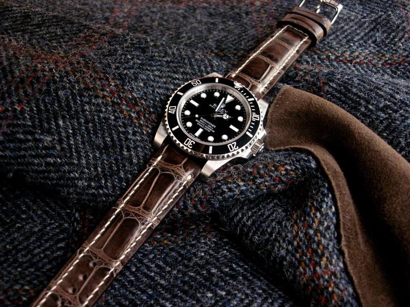 The Weeks offering from our Manufacture Collection - Tourbe Brune Alligator