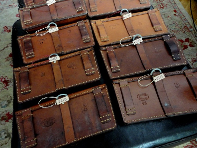 Newly Arrived: 20 x 1960's Swiss Ammo Pouches for Your Custom leather watch Strap!
