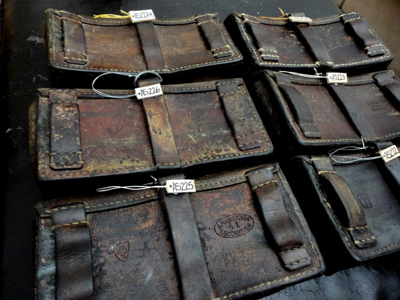 9 Newly Arrived Pre-1960's Swiss Ammo pouches including one from 1917!!