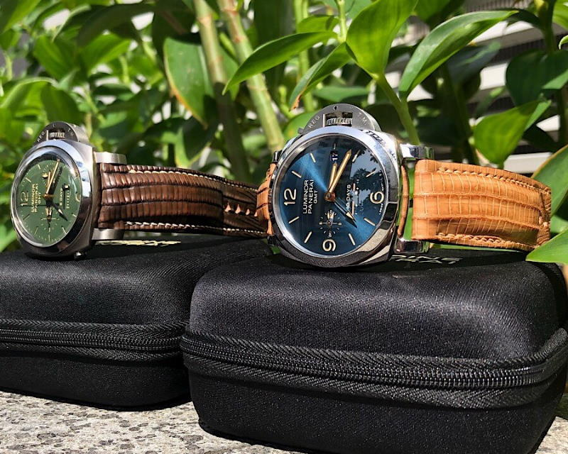 Paul's Great Teju Lizard Custom Watch Straps for His Awesome Panerai PAM689 and PAM737 Watches!