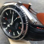 Custom SuperMatte Teju Lizard Watch Strap for Omega Planet Ocean 45.5 Co-Axial