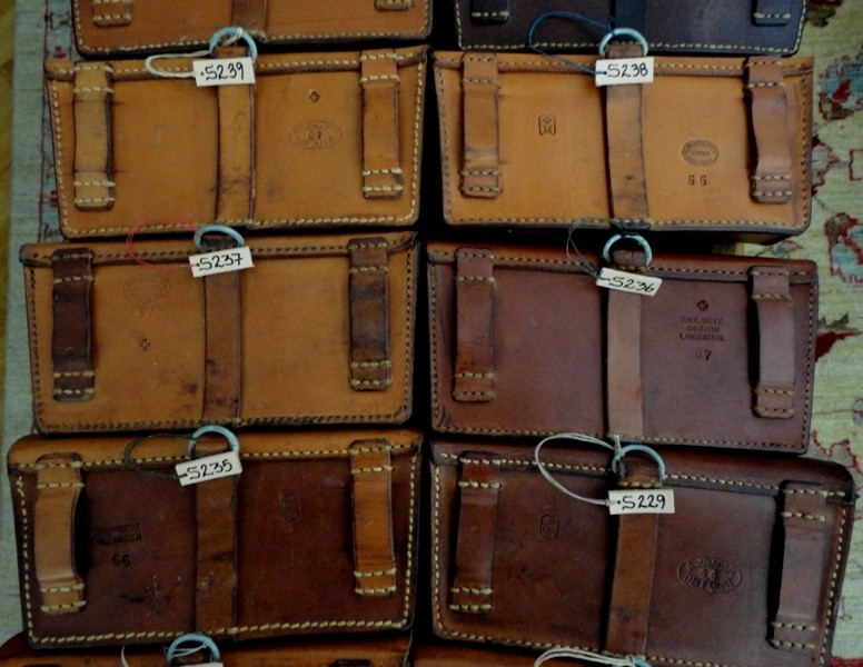 Selection of 1960s Swiss Ammo Pouches for use in your Custom watch straps