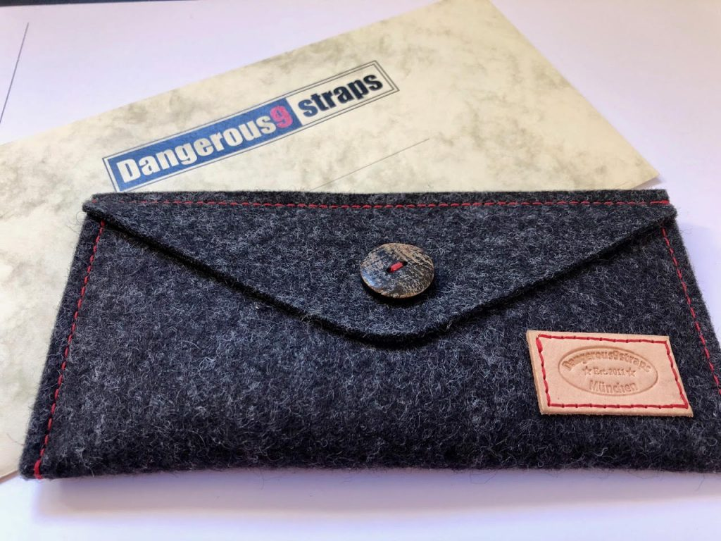 Grey felt pouch packaging