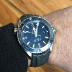 Max's Omega Planet Ocean on Commando Grey SuperMatte Teju Lizard with Integrated Fit