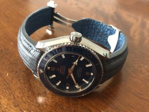 Omega Planet Ocean on Commando Grey Teju Lizard strap