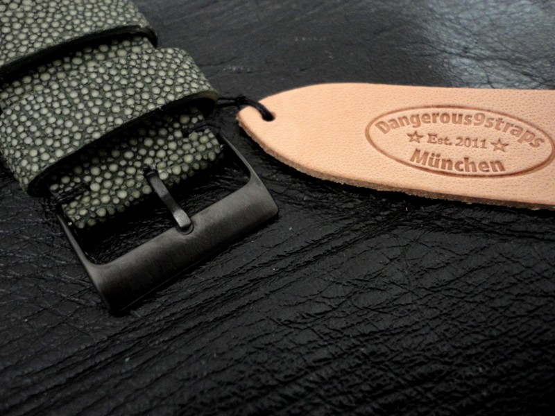 Stingray Watch Strap: Matte Finished Army Green Stingray Strap for Ressence Type 5 DLS Diver