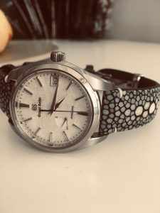 Grand Seiko Snowflake on Stingray strap