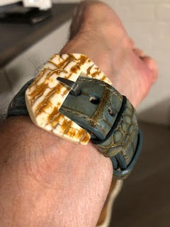 Mammoth buckle and Alligator watch strap