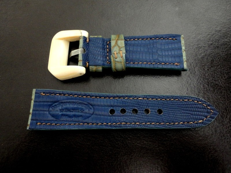 Lizard lining for custom Alligator watch strap