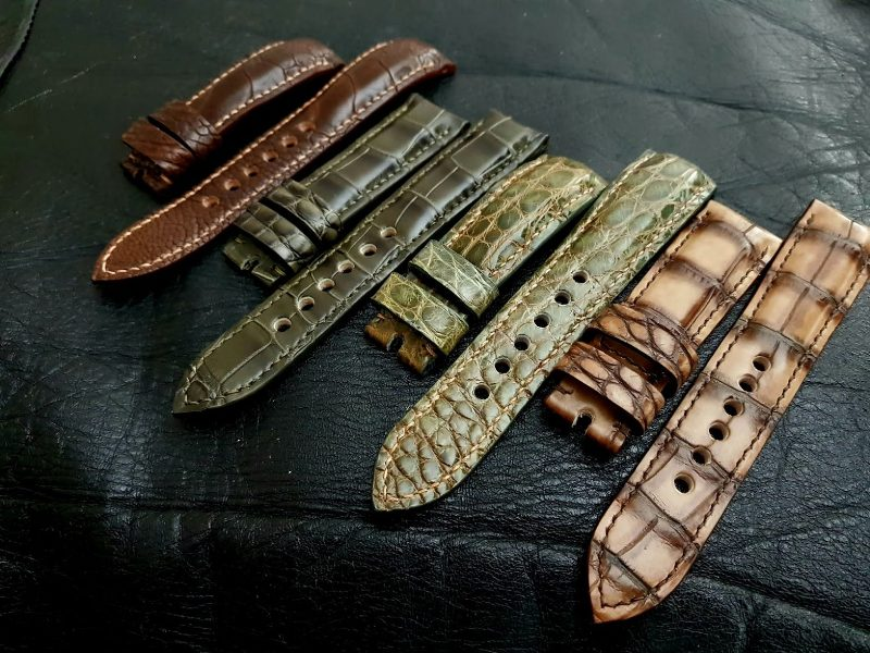 Custom watch Straps for PAM393: Exotic  Straps Group shots.