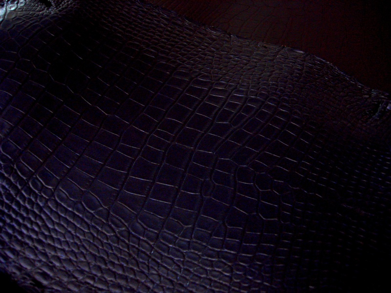 Starry Night - Pearlescent Mid-Night Blue Alligator
