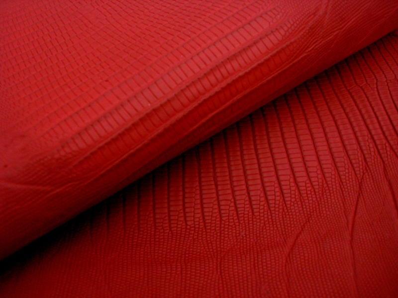 Red SuperMatte Teju Lizard skins