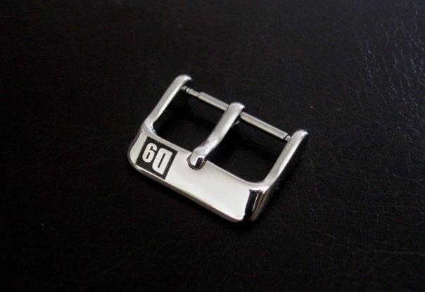 'D9' Buckles for Custom Watch Straps - Polished Pin Buckle