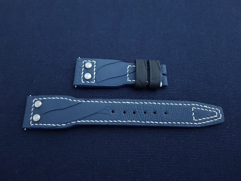 IWC Inspired Stitching Pattern with Rivets at the lugs