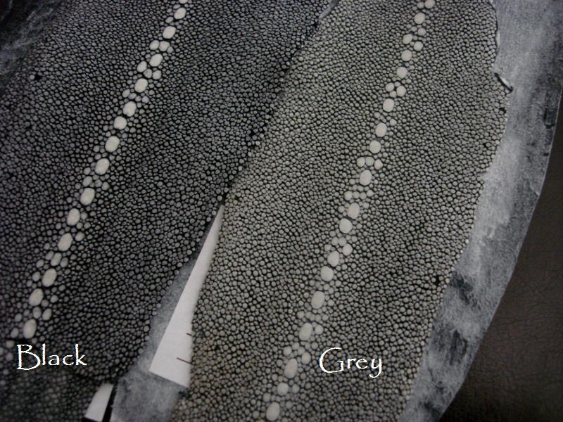 Black and Grey Row Stone Stingray skins for your custom watch straps.