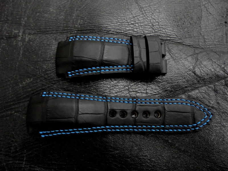 Double Row Stitching - Stitching Patterns Possible for Custom Straps
