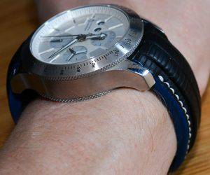Matt's Offshore Professional Chronograph on SuperMatte Teju Lizard strap width Blue edge finish