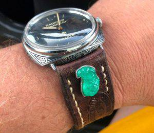 PAM672 on Swiss Ammo strap with Emerald Eagle