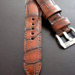Hand Antiqued Alligator Finish for Your Custom Straps
