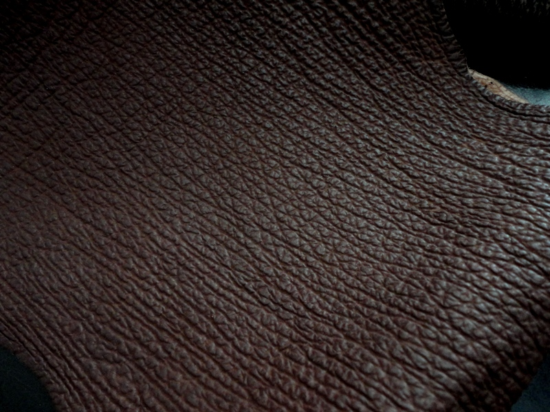 Sharkskin for your custom watch strap: Chocolate Brown